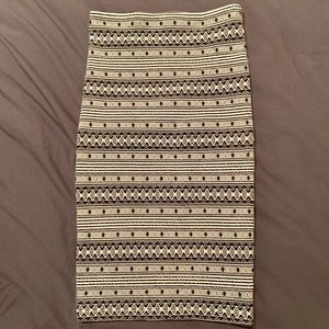 Anthropologie pattern pencil midi skirt